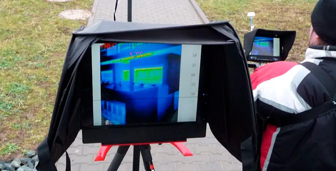Alumno en curso de termografía con drones