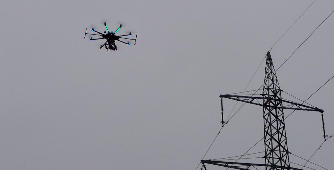 trabajo con dron de termometría